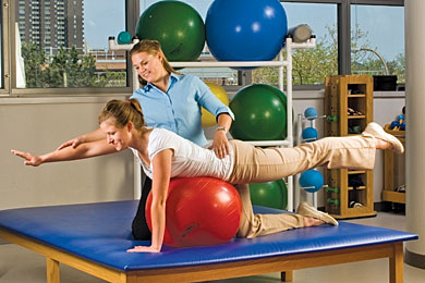 Using A Yoga Ball For Physical Therapy Picture - Signature Health & Wellness